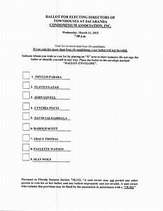 Voting Ballot Template For Word 9 10 Election Ballot Template Word Lascazuelasphilly Com