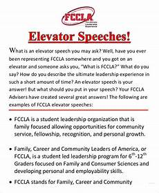 Elevator Speech Examples For Students Elevator Speech Examples 9 Free Word Pdf Documents