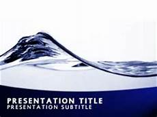 Ppt On Waves Royalty Free Abstract Water Wave Powerpoint Template In Blue