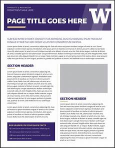 How To Make A Fact Sheet On Word Fact Sheet Uw Brand