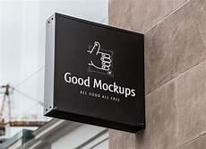 Logo Mockup Free Free Outdoor Advertisment Wall Sign Logo Mockup Psd Good