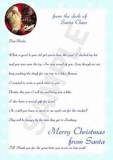 A Letter From Santa Template Sample Letter From Santa Santa Pinterest Free