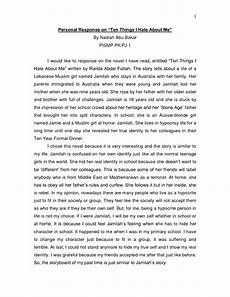 Personal Reflection Essay Self Reflection Essay About Yourself Pdf
