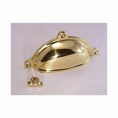 98mm in length polished brass cabinet pull handle the
