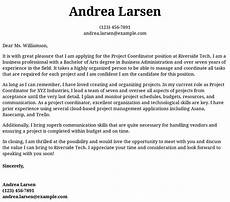 Cover Letter For Project Coordinator Position Project Coordinator Cover Letter Examples Samples