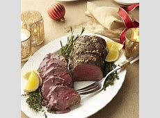 Rosemary Garlic?Rubbed Beef Tenderloin with Red Wine