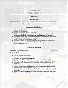 Call Center Job Description For Resume Call Center Resume Occupational Examples Samples Free