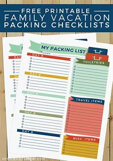 Printable Packing List Travel Packing List Free Printable Somewhat Simple