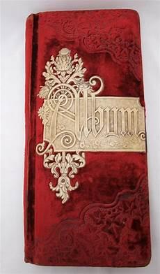 Red Photo Albums Vintage Antique Red Velvet Victorian Photo Album Patented