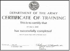 Army Certificates Of Training Tmc Our Certificates