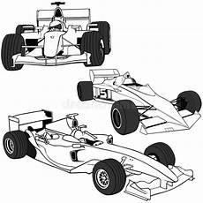 Rennwagen Malvorlagen Xl 1 Auto F1 Vol Vektor Illustrationer Illustration Av