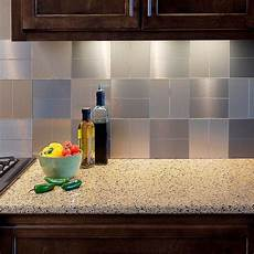 decorative tiles for kitchen backsplash aspect grain 6 in x 3 in brushed stainless metal