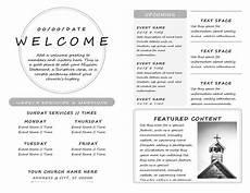 Bulletin Template Free Best Templates Church Bulletin Layouts