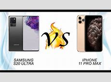 Compare Samsung Galaxy S20 Ultra 5G vs Apple iPhone 11 Pro