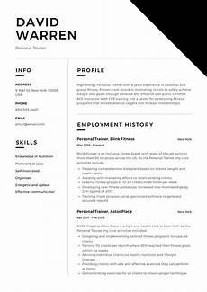 Personal Profile Resume Sample Guide Personal Trainer Resume 12 Samples Pdf 2019