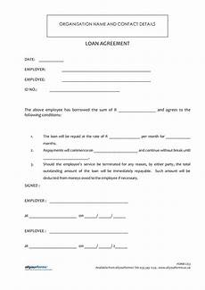 Company Loan To Employee Agreement Free Printable Loan Template Form Generic