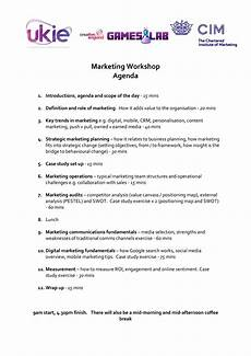 Marketing Meeting Agenda Marketing Workshop Agenda Templates At