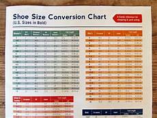 Shoes Com Size Chart Printable Shoe Size Conversion Chart