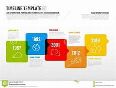 Horizontal Timeline Template Vector Infographic Horizontal Timeline Template Stock