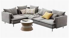 4 Sofa 3d Image by Ikea Soderhamn 4 Seat Corner Sofa 3d Turbosquid 1296478