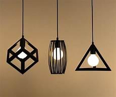 Metal Lights Vintage Retro Pendant Lights Lamp Metal Cube Cage
