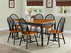 7 pc dining room sets table chairs wood farmhouse windsor