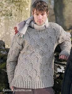 knitting men s cable sweater knitting pattern