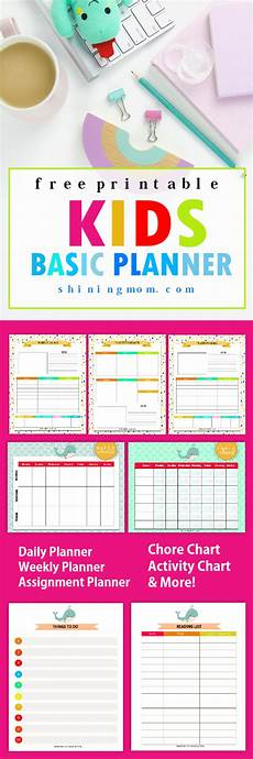 Printable Daily Schedule Kids Free Printable Kids Planner Cute And Colorful