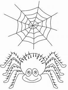 Malvorlagen Spinnen Kostenlose Malvorlage Spinne Und Spinnennetz