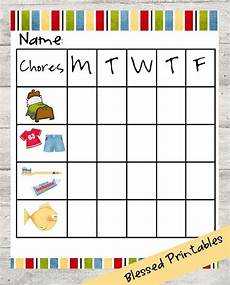 Little Kid Chore Chart Toddler Chore Chart Printable Chore Chart For Toddlers