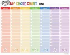 Make Your Own Chart Online For Free Free Printable Chore Chart Momdot