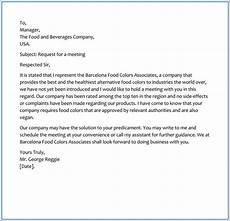 Sample Letter Requesting A Meeting Sample Request Letter For Business Meeting Appointment