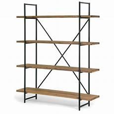 etagere metal shop ailis brown wood and metal 75 inch 4 shelf etagere