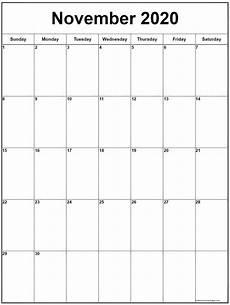 November 2020 Calendar Printable November 2020 Vertical Calendar Portrait