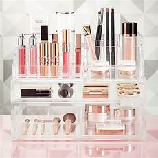 luxe acrylic makeup storage kit the container store