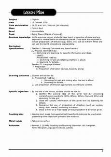 Lesoon Plan Lesson Plan English 2