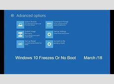 Windows 10 Freezes After Update Or Won't Boot *Fix*   YouTube