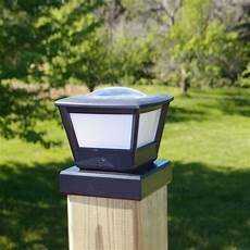 Outdoor Solar Post Cap Lights Fence Post Solar Light By Free Light 5x5 And 6x6 Post Cap