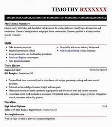 Apprentice Chef Resume Apprentice Chef Resume Sample Resumes Misc Livecareer