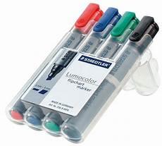 Flip Chart Markers Chisel Tip Staedtler 356bwp Flipchart Marker Chisel Tip Set At