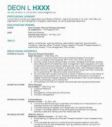 Physiotherapy Resume Sample Physical Therapist Assistant Resume Sample Resumes Misc
