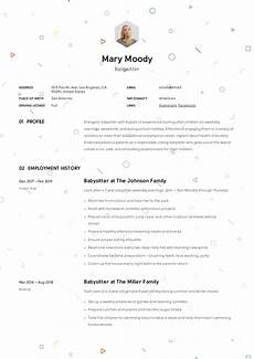 How To Write Babysitting On Resume Babysitter Resume Example Amp Writing Guide 12 Samples