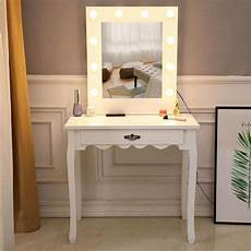 zimtown vanity dressing table with 10 warm led lights