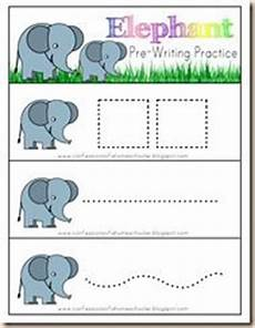 Elephant Pre Writing Practice I Laminate This And Then