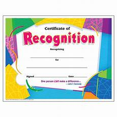 Free Template For Certificate Of Recognition Trend Colorful Certificate Of Recognition