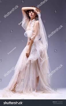 beauty fashion woman in antique retro vintage white