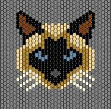 beadwork cat pattern beaded animals peyote patterns