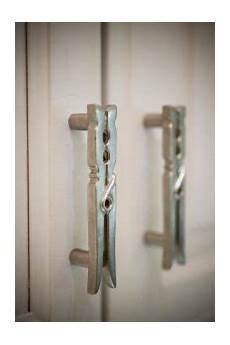 clothespin cabinet pulls for your laundry room cabinet