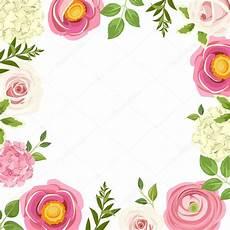 cornice di fiori illustrazione cornici fiori rosa cornice con fiori rosa