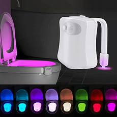 Sensor Toilet Light Led Toilet Night Light 8 Color Led Motion Sensor Activated
